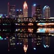 Columbus Ohio Reflecting On The River Art Print