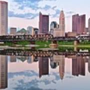 Columbus Ohio Reflects Art Print