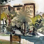 Columbus Park Bayshore Tampa Art Print