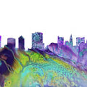 Columbus Skyline 3 Art Print