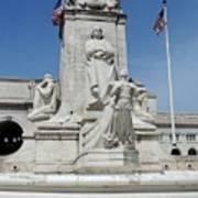 Columbus Statue Art Print