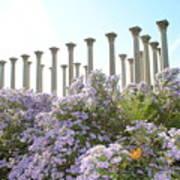 Column Flowers To The Sky Art Print