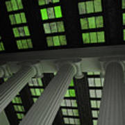 Column Stain Green Art Print