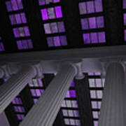 Column Stain Purple Art Print