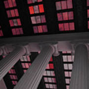 Column Stain Red Art Print