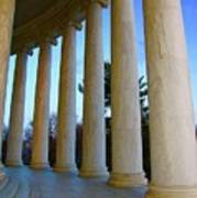 Columns At Jefferson Art Print by Megan Cohen