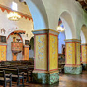 Columns At San Juan Bautista Mission Art Print