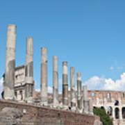 Columns Colosseum And Lamppost Art Print