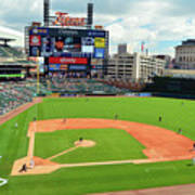 Comerica Park, Home Of The Detroit Tigers Art Print