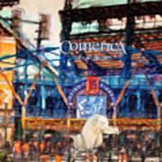 Comerica Tigers Detroit Art Print