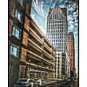 Comerica Tower Art Print