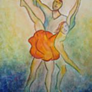 Comic Ballet Art Print