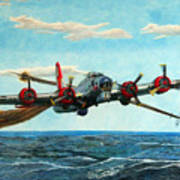 Coming Home - Boeing B-17 Flying Fortress V2 Art Print