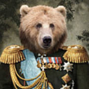 Commander Bear Art Print