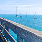 Commercial Pier On Monterey Bay-california  Art Print
