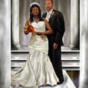 Commissioned Wedding Portrait  Art Print