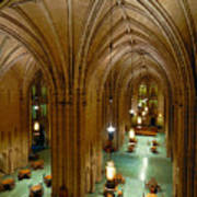Commons Room Cathedral Of Learning - University Of Pittsburgh Print by Amy Cicconi