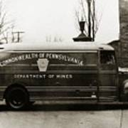 Commonwealth Of Pennsylvania  Coal Mine Rescue Truck 1947 Art Print