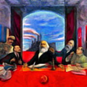 Communist Last Supper Art Print