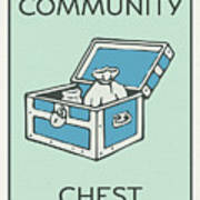 Community Chest Vintage Monopoly Board Game Theme Card Art Print
