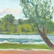 Como Lake By The Pavilion Art Print