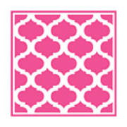 Compact Marrakesh With Border In French Pink Art Print