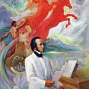Composer Felix Mendelssohn Art Print