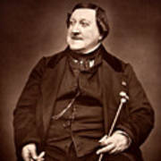 Composer Rossini Art Print