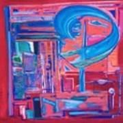 Composicion Azul Art Print