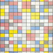 Composition With Grid Ix Art Print