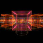 Computer Generated 3d Abstract Fractal Flame Modern Art Art Print
