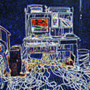 Computers And Wires Art Print