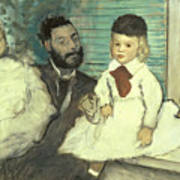 Comte Le Pic And His Sons Art Print by Edgar Degas