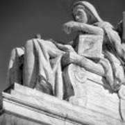 Comtemplation Of Justice 1 Bw Art Print