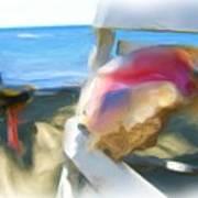 Conc At The Beach Art Print