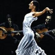 Concentracion Del Funcionamiento Del Flamenco Art Print