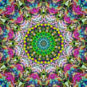 Concentric Colors Abstract Art Print