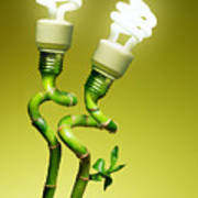 Conceptual Lamps Print by Carlos Caetano