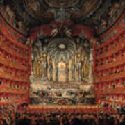 Concert Given By Cardinal De La Rochefoucauld At The Argentina Theatre In Rome Art Print