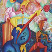 Concerto For Dingo And Tiki God Art Print