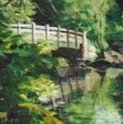 Concord River Bridge Art Print