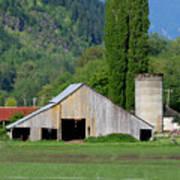 Concrete Barn Summer Ba-2008 Art Print
