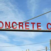 Concrete Company Art Print