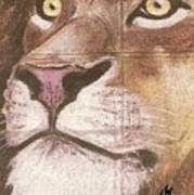 Concrete Lion Art Print