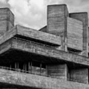 Concrete - National Theatre - London Art Print