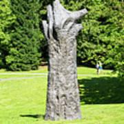 Concrete Tree On Campus Art Print