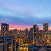 Condominium Buildings In Downtown Vancouver Bc At Sunrise Art Print