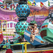 Coney Island Amusement Ride Art Print