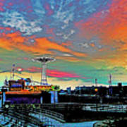 Coney Island In Living Color Art Print