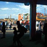 Coney Island Stroll Art Print